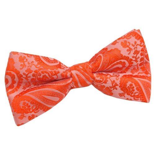 Burnt Orange Paisley Pre-Tied Bow Tie