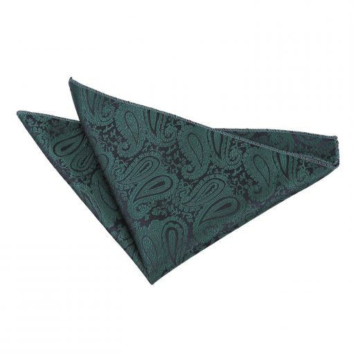 Emerald Green Paisley Handkerchief / Pocket Square