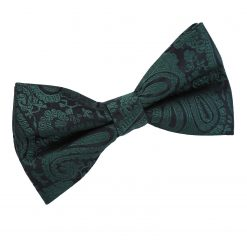 Emerald Green Paisley Pre-Tied Bow Tie