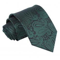 Emerald Green Paisley Classic Tie