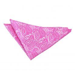 Fuchsia Pink Paisley Pocket Square