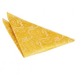 Gold Paisley Handkerchief / Pocket Square