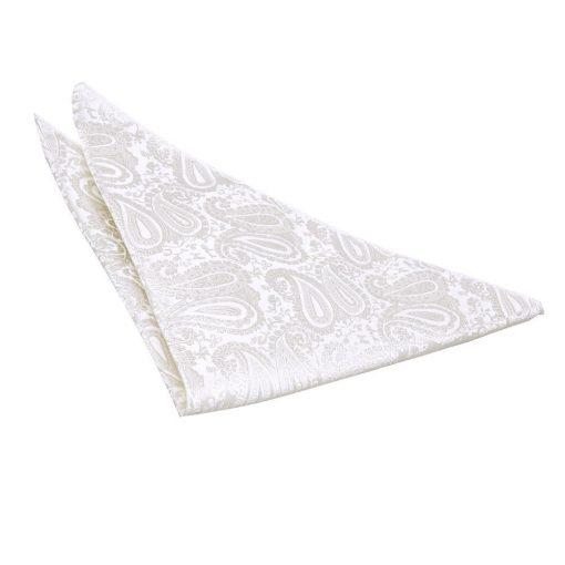 Ivory Paisley Handkerchief / Pocket Square