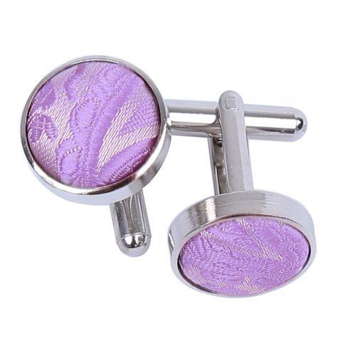 Lilac Paisley Cufflinks