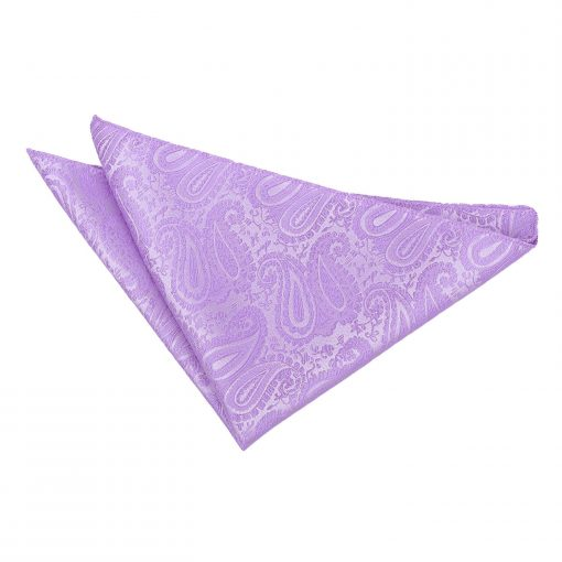 Lilac Paisley Handkerchief / Pocket Square