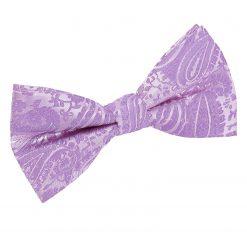 Lilac Paisley Pre-Tied Bow Tie