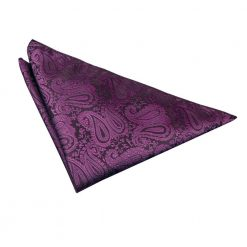 Purple Paisley Pocket Square