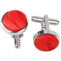 Red Paisley Cufflinks