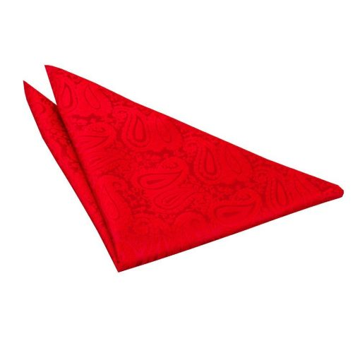 Red Paisley Handkerchief / Pocket Square