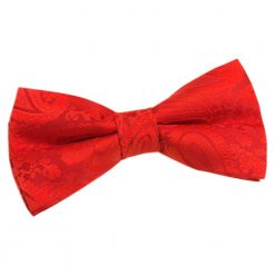 Red Paisley Pre-Tied Bow Tie