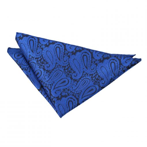 Royal Blue Paisley Handkerchief / Pocket Square