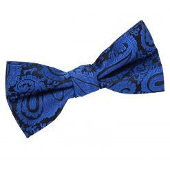 Royal Blue Paisley Pre-Tied Bow Tie