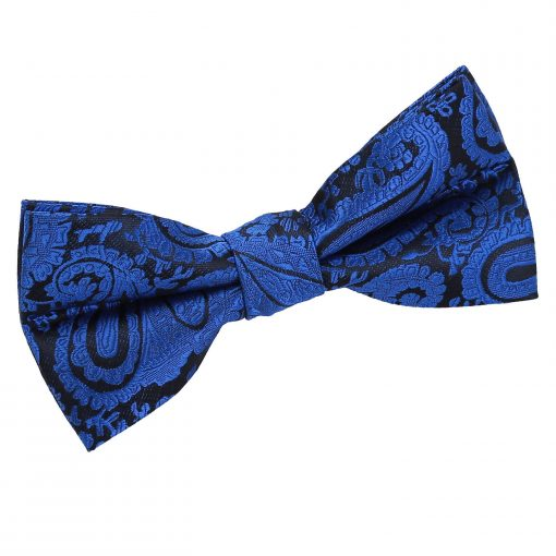Royal Blue Paisley Pre-Tied Bow Tie