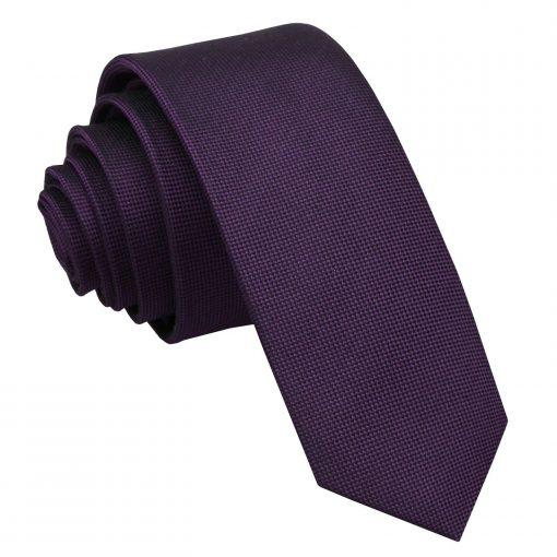 Cadbury Purple Panama Silk Skinny Tie