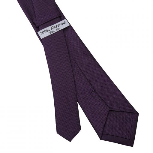 Cadbury Purple Panama Silk Slim Tie