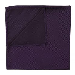 Cadbury Purple Panama Silk Handkerchief / Pocket Square