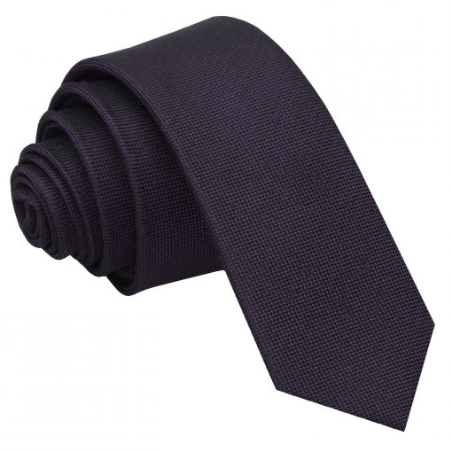 Dark Purple Panama Silk Skinny Tie
