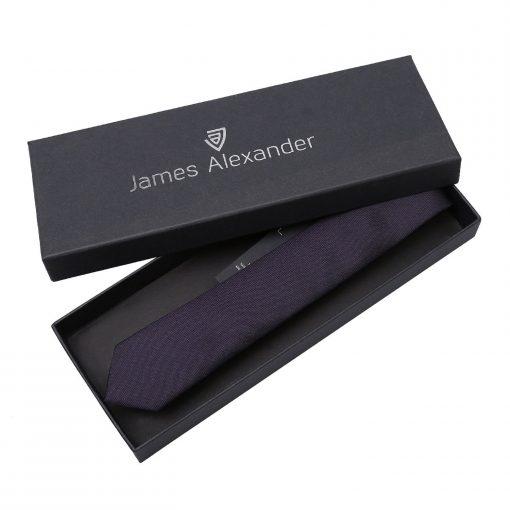 Dark Purple Panama Silk Skinny Tie