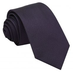 Dark Purple Panama Silk Slim Tie