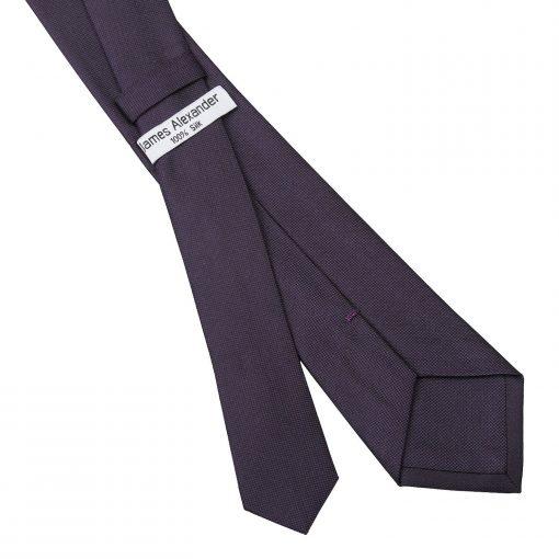 Dark Purple Panama Silk Slim Tie
