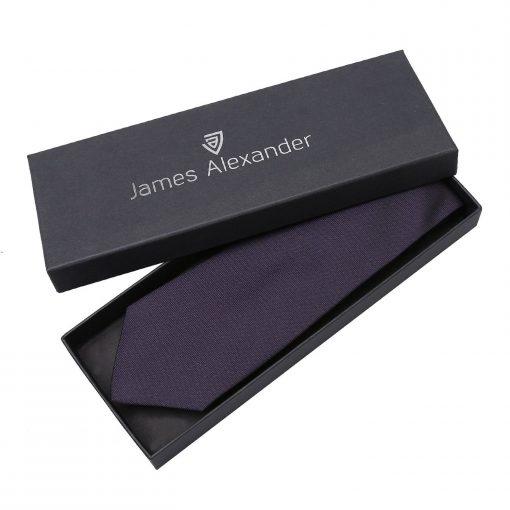 Dark Purple Panama Silk Classic Tie