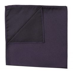 Dark Purple Panama Silk Handkerchief / Pocket Square