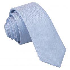 Light Blue Panama Silk Skinny Tie