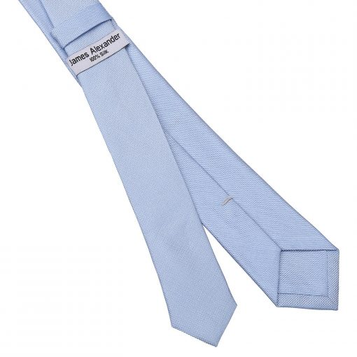 Light Blue Panama Silk Skinny Tie