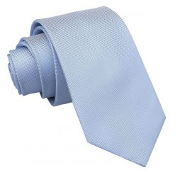 Light Blue Panama Silk Slim Tie