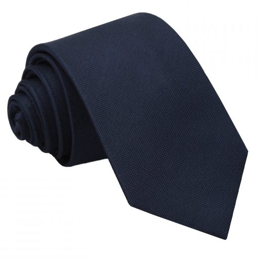 Navy Blue Panama Silk Slim Tie
