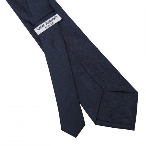 Navy Blue Panama Silk Classic Tie