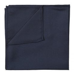 Navy Blue Panama Silk Pocket Square