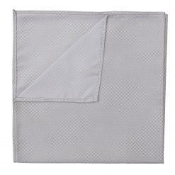 Silver Panama Silk Handkerchief / Pocket Square