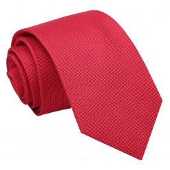 Strawberry Red Panama Silk Slim Tie