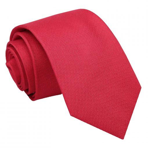 Strawberry Red Panama Silk Slim Tie