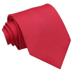 Strawberry Red Panama Silk Classic Tie