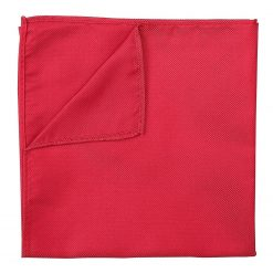 Strawberry Red Panama Silk Handkerchief / Pocket Square