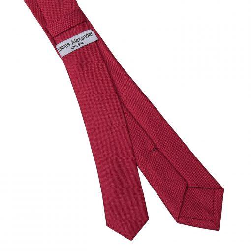 Tango Red Panama Silk Skinny Tie