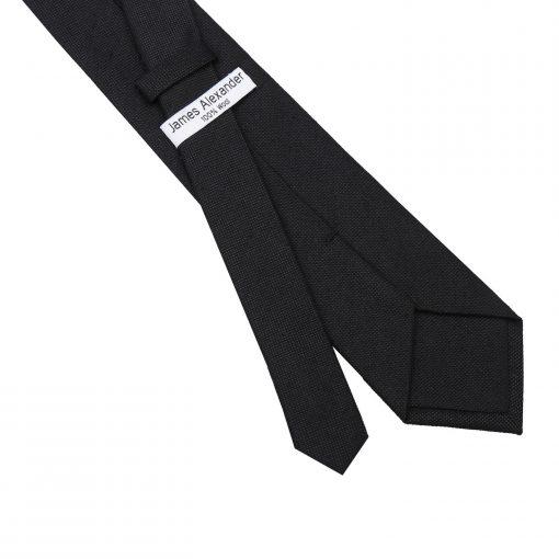 Black Panama Cashmere Wool Classic Tie