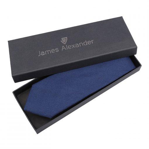 Navy Blue Panama Cashmere Wool Classic Tie