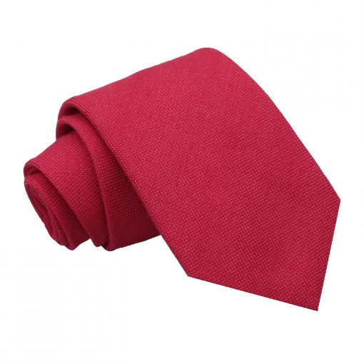 Scarlet Red Panama Cashmere Wool Classic Tie