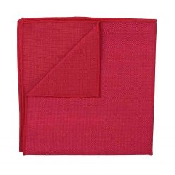 Scarlet Red Panama Cashmere Wool Handkerchief / Pocket Square