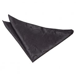 Black Floral Handkerchief / Pocket Square