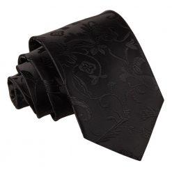 Black Floral Classic Tie