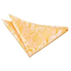 Gold Floral Handkerchief / Pocket Square