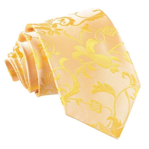 Gold Floral Classic Tie