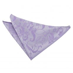 Lilac Floral Handkerchief / Pocket Square