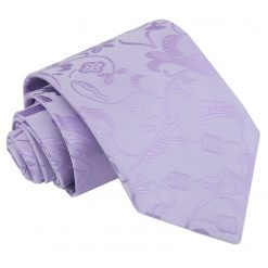 Lilac Floral Classic Tie
