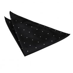 Black Pin Dot Pocket Square