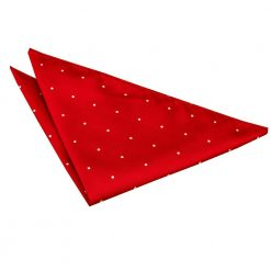 Dark Red Pin Dot Handkerchief / Pocket Square
